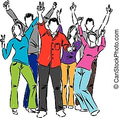 happy people illustration