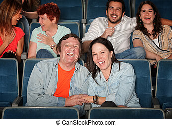 Happy People In Theater