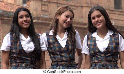 Happy People Smiling Teen Girls