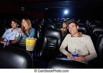 Happy People Watching Film