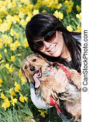 Happy Pet Owner