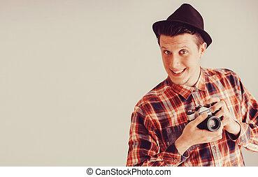 Happy photographer