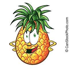 Pineapple character cartoon illustration
