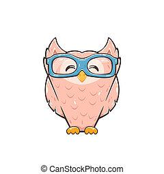 Happy Pink Owl
