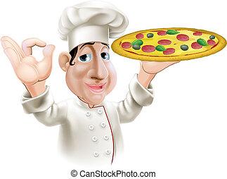 Happy Pizza Chef