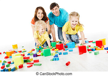 Happy playing toys blocks