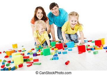 Happy playing toys blocks