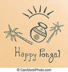 Pongal grunge rubber stamp on white background