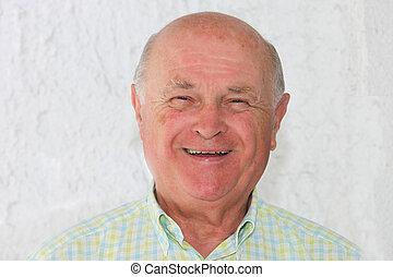 Happy positive pensioner