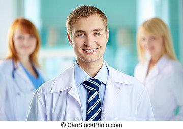 Happy practitioner