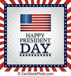 happy president day frame flag stars graphic