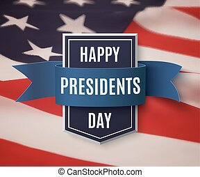 Happy Presidents Day background template.