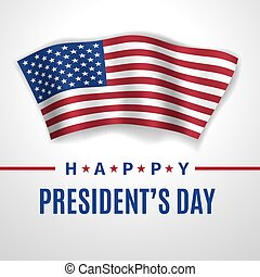 Happy President's Day greeting card