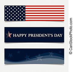 Happy Presidents Day. Presidents day banner illustration...