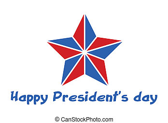 Happy Presidents Day Star