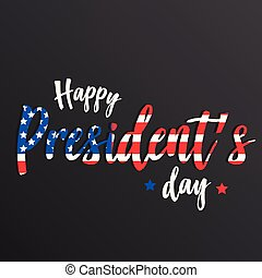 Happy president's day vector background or banner graphic
