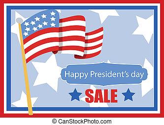 happy President's day vector banner