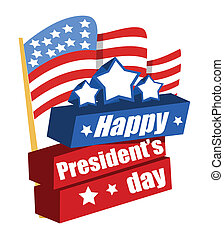 Happy Presidents Day Vector Banner