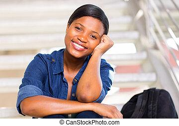 pretty black college girl