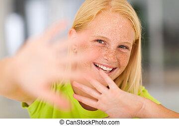 pretty cute pre teen girl