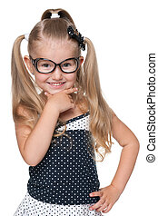 Happy pretty little girl