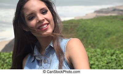 Happy Pretty Teen Girl