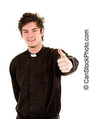Happy priest