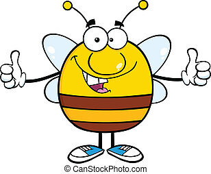 Happy Pudgy Bee Character