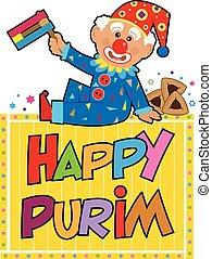 Happy Purim Clown