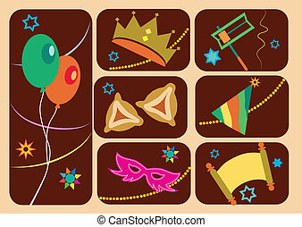 Happy purim, jewish holiday