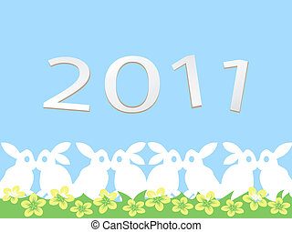 happy rabbit new year card