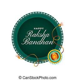 happy raksha bandhan traditional festival card design