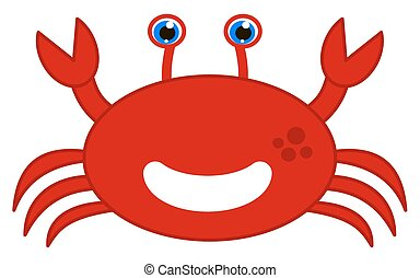 happy red crab