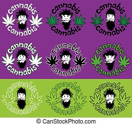 happy relaxed guy cannabis design