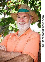 Happy Relaxed Senior Man