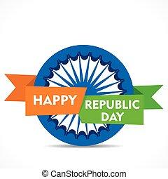 happy republic day greeting design