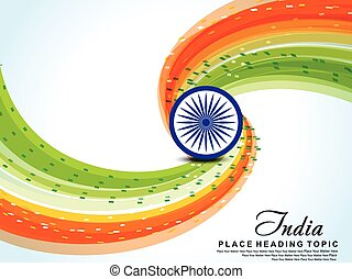 Happy Indian Republic Day Wave Background With Balloon Happy Indian Republic Day Wave Background With Balloon Vector Canstock