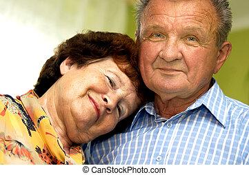 Happy, romantic senior couple