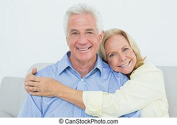 Happy romantic senior couple