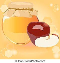 happy Rosh Hashanah, honey, Apple - the traditional symbols ...