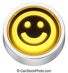 Happy round icon