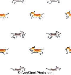 Happy running dogs seamless pattern.
