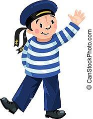 Happy sailor boy