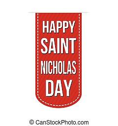 Happy Saint Nicholas Day banner design