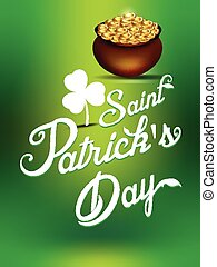 happy saint Patrick day background vector illustration