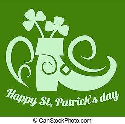 Happy Saint Patrick day Irish holiday clover