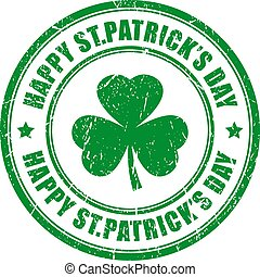 Happy Saint Patrick's day vector stamp