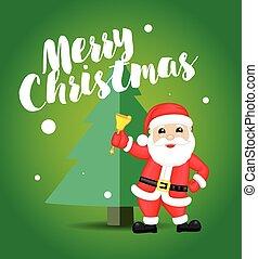 Happy Santa Christmas Greeting Card