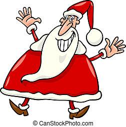 happy santa claus cartoon