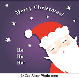 Happy Santa Claus Christmas greeting card